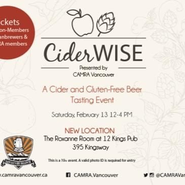 Ciderwise: A Cider and Gluten-Free Beer Tasting Event