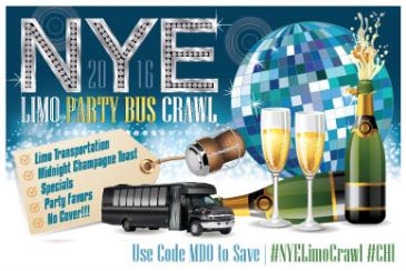 NYE Limo Bus Crawl - Chicago New Year's 2016