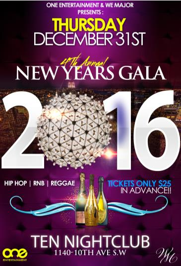 HIP HOP NEW YEARS EVE GALA 2016