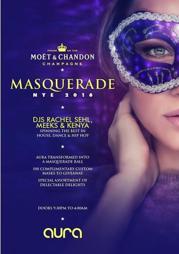 Moet & Chandon Champagne Masquerade NYE 2016