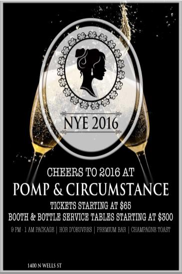NYE 2016 with Pomp & Circumstance