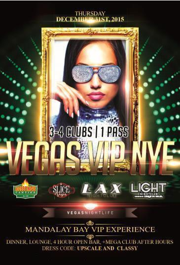 Vegas VIP NYE 2015 - Mandalay Bay All Access Pass to 3-4 Clu
