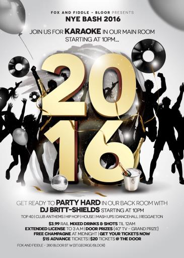 New Years Bash at Fox and Fiddle