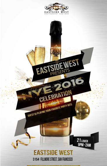 New Year's Eve 2015 at Eastside West