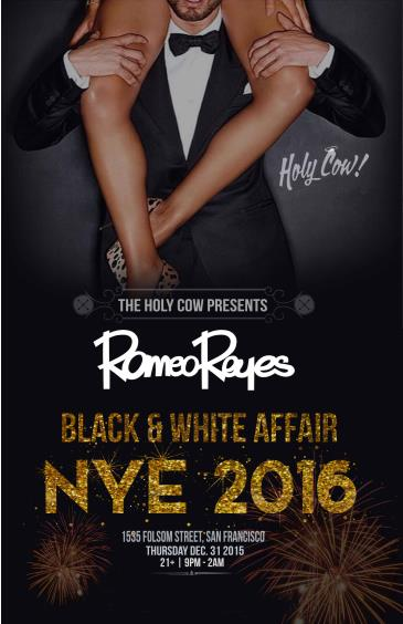 Black & White Affair NYE 2016