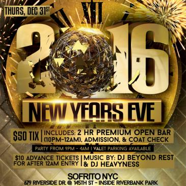 NYC New Years Eve party at Sofrito