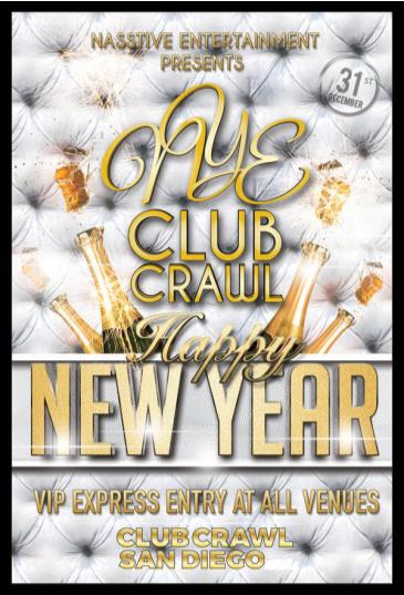 NYE Club Crawl to HOLLYWOOD BLOCK PARTY (OPEN BAR)