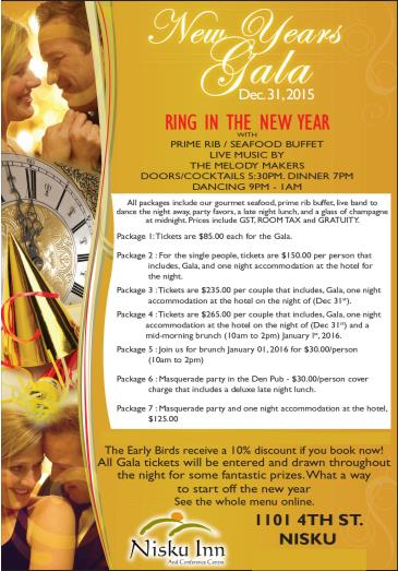 Nisku Inn & Conference Centre New Years Eve Gala