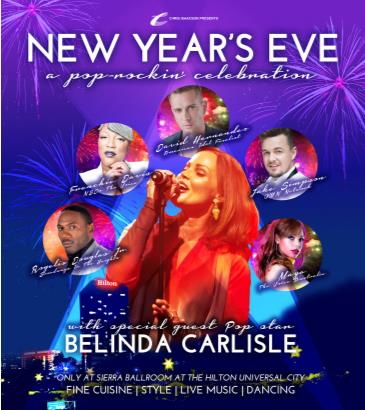 New Year's Eve 2016 -with special guest Belinda Carlisle