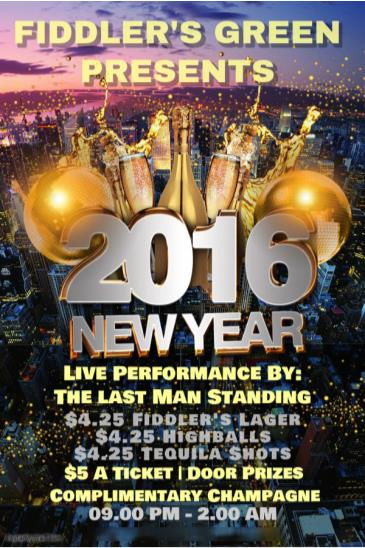 FIDDLER'S GREEN NEW YEARS EVE BASH