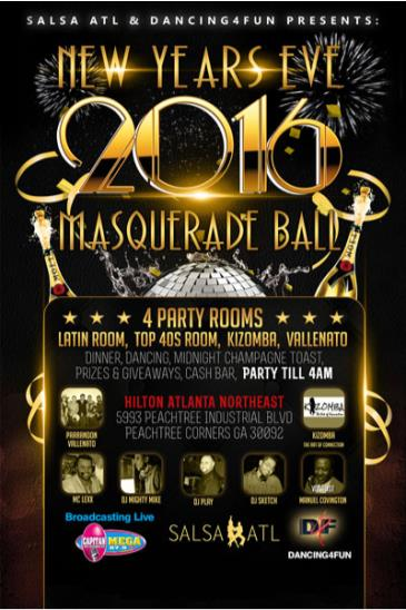 New Year's Eve Masquerade Party @ Hilton Atlanta Northeast