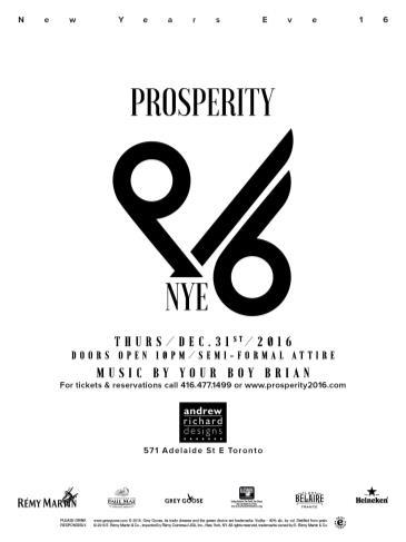 Prosperity NYE 2016 At Andrew Richard Designs