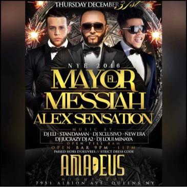 Amadeus Nightclub in Queens NY New Years 2016 ALEX SENSATION