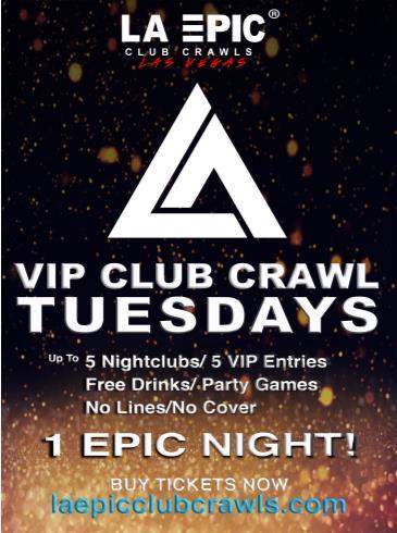 Premier VIP Club Crawl, LA Epic Club Crawls Las Vegas