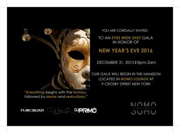 Eyes Wide Shut New Years Eve Gala