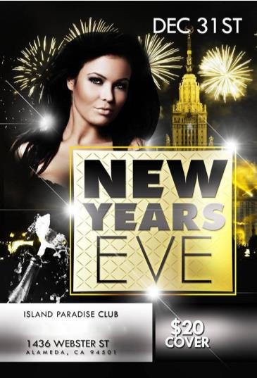 New Years Eve Countdown@Island Paradise Club