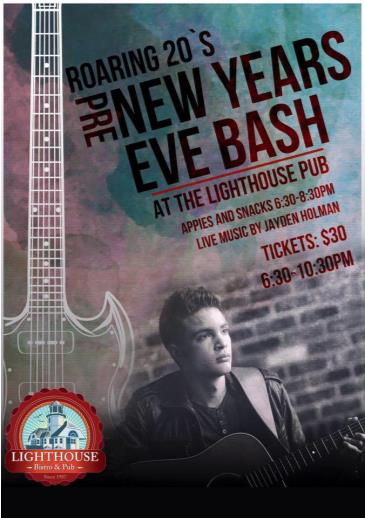 Pre-New Years Eve Bash with Jayden Holman