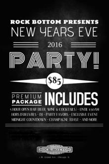 CELEBRATE THE NEW YEAR AT ROCK BOTTOM CHICAGO!