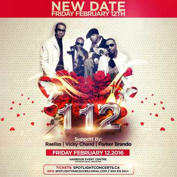 112 Live In Concert - FRIDAY FEB 12 New Date!