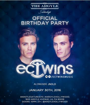 EC TWINS OFFICIAL BIRTHDAY PARTY: Main Image