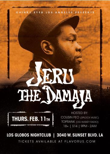 Jeru The Damaja ($14 pre / $20 Door):