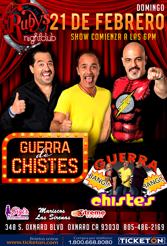 Guerra De Chistes Tickets The Ruby S Cafe On February 21