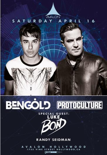 Ben Gold, Protoculture, Luke Bond: Main Image
