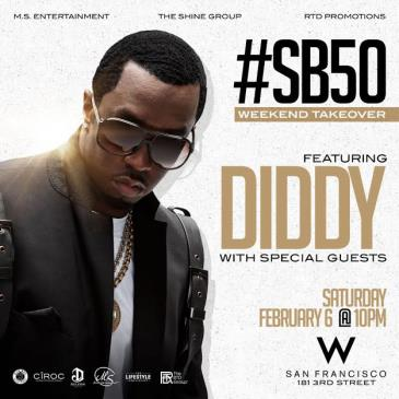 Diddy Super Bowl 50 Weekend Takeover Event 2/6-img