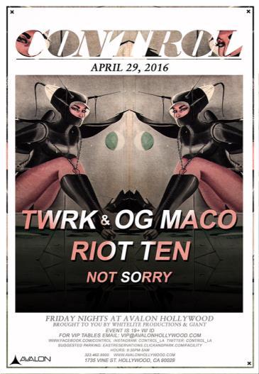 TWRK, OG Maco, Riot Ten: Main Image