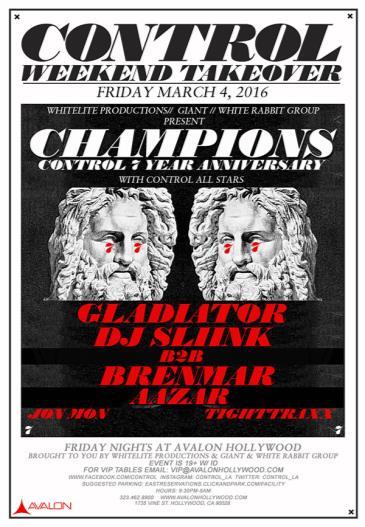 Gladiator, DJ Sliink b2b Brenmar Aazar: