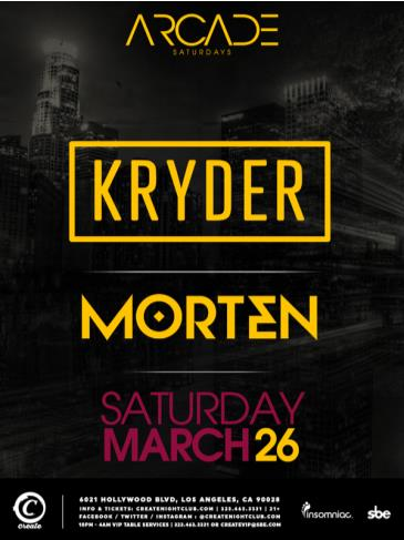 ARCADE Saturdays | Kryder + Morten: