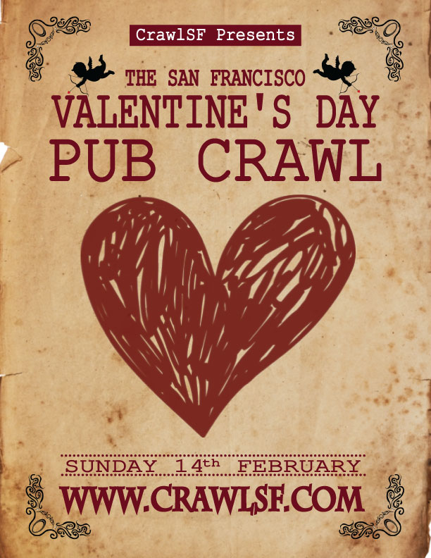 valentine's day san francisco pub crawl tickets 02/14/16, Ideas