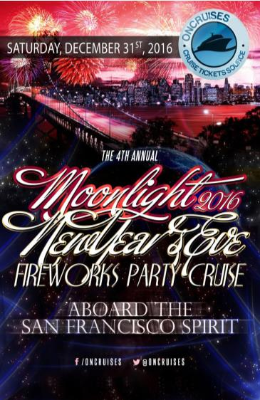 4th Annual Moonlight New Year's Eve Fireworks Cruise