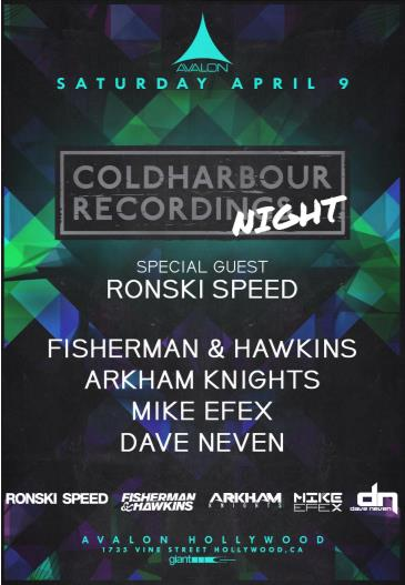 Coldharbour Night, Ronski Speed, Fisherman & Hawkins: Main Image