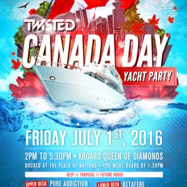 TWISTED CANADA DAY YACHT PARTY