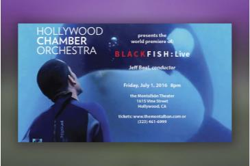 World Premiere BLACKFISH w/ Jeff Beal and Live Orchestra: Main Image