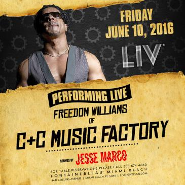 Freedom Williams of C+C Music Factory & Jesse Marco LIV: Main Image