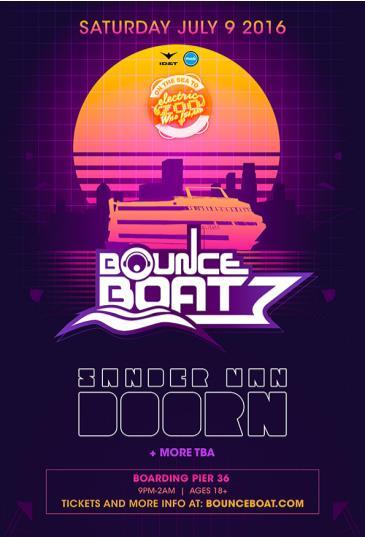 BOUNCE BOAT Featuring Sander Van Doorn: Main Image