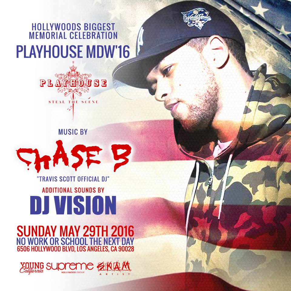 The Chase Big W 16: MDW AT PLAYHOUSE NIGHTCLUB W/ CHASE B Tickets 05/29/16