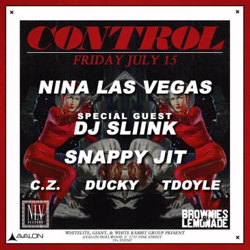 Nina Las Vegas, Special Guest DJ Sliink, Snappy Jit, CZ: Main Image