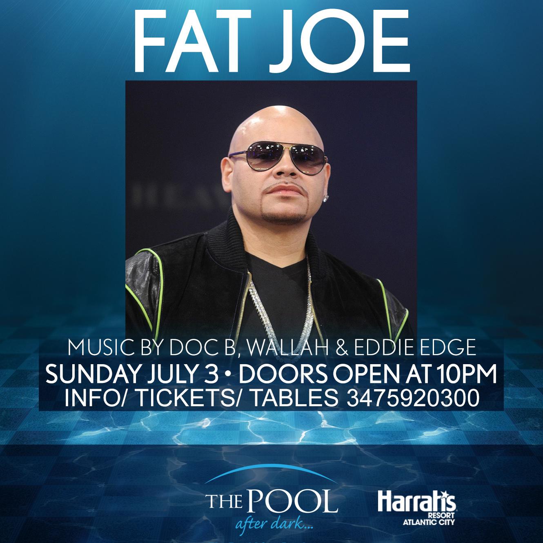 Fat Joe July 4th Weekend Pool After Dark Harrahs Pool Party ...