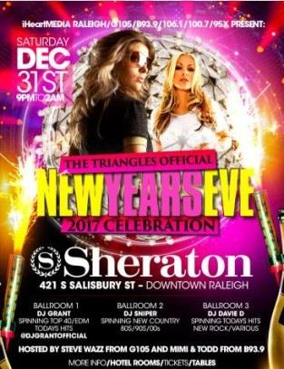 iHEARTMEDIA 2017 New Years Eve Celebration - Raleigh