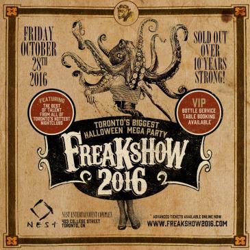 Freakshow Halloween 2016