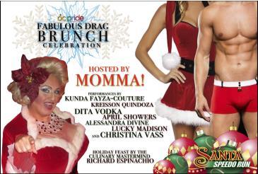 Fabulous Drag Brunch Celebration - Mr & Ms Santa Speedo Run: