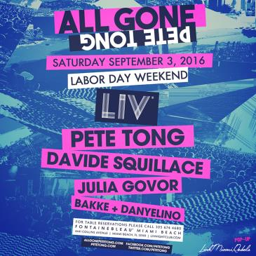 All Gone Pete Tong LIV: Main Image