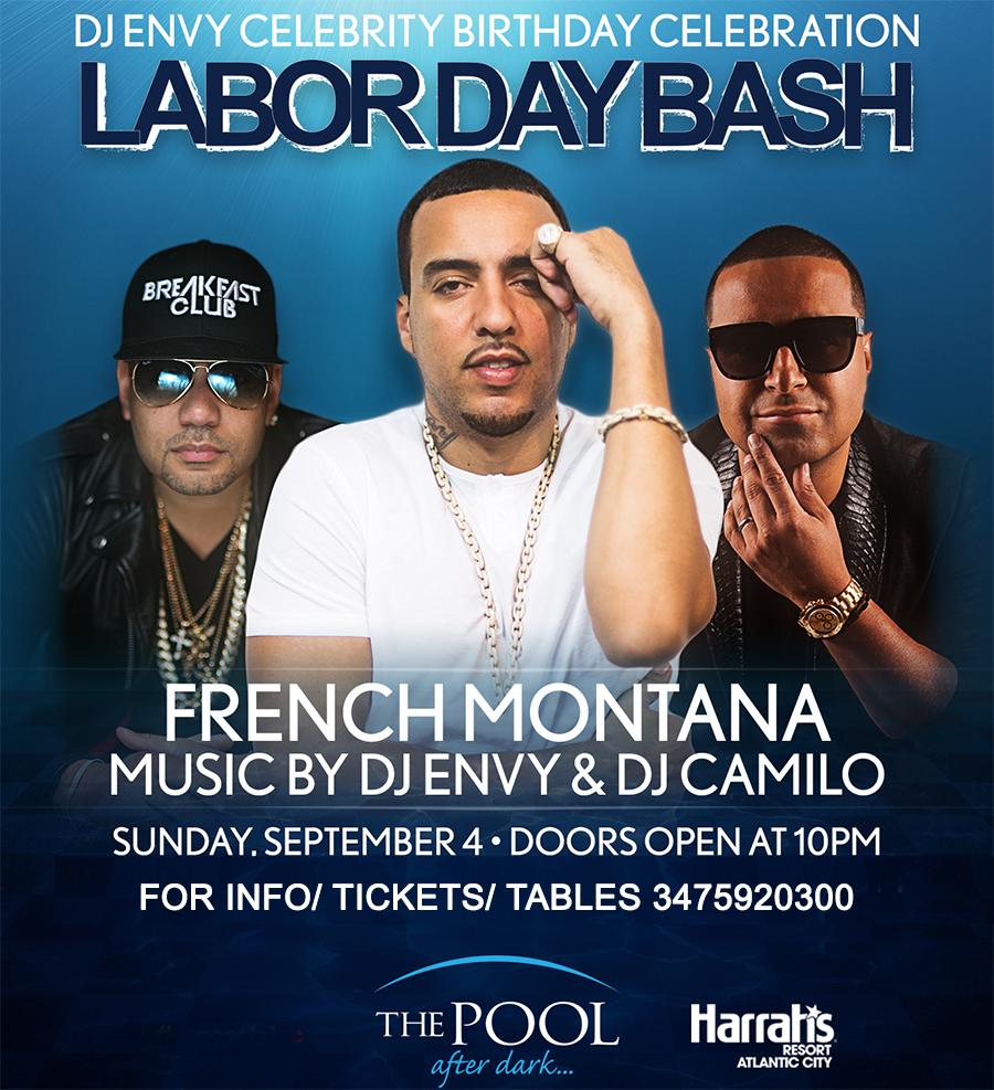 French Montana Dj Camilo Dj Envy LDW 2016 Harrahs Pool Party Tickets