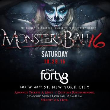 The Monster Ball - NYC's # 1 Rated & Biggest Halloween Party