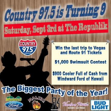 Country 97.5 is turning 9!-img