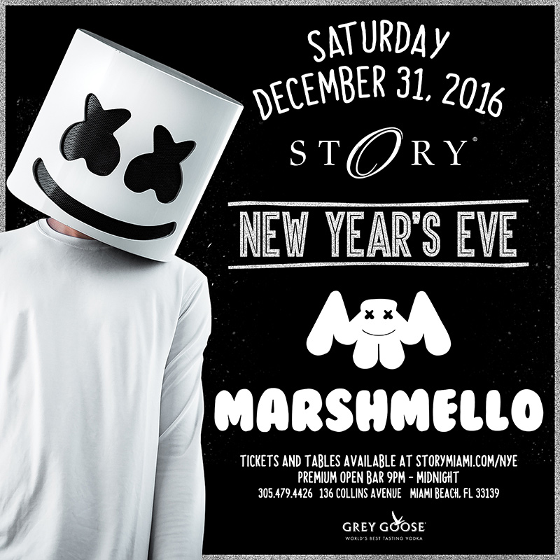 Marshmello New Year\'s Eve STORY Tickets 12/31/16