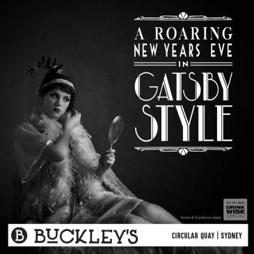 Buckley's New Years Eve in Gatsby Style